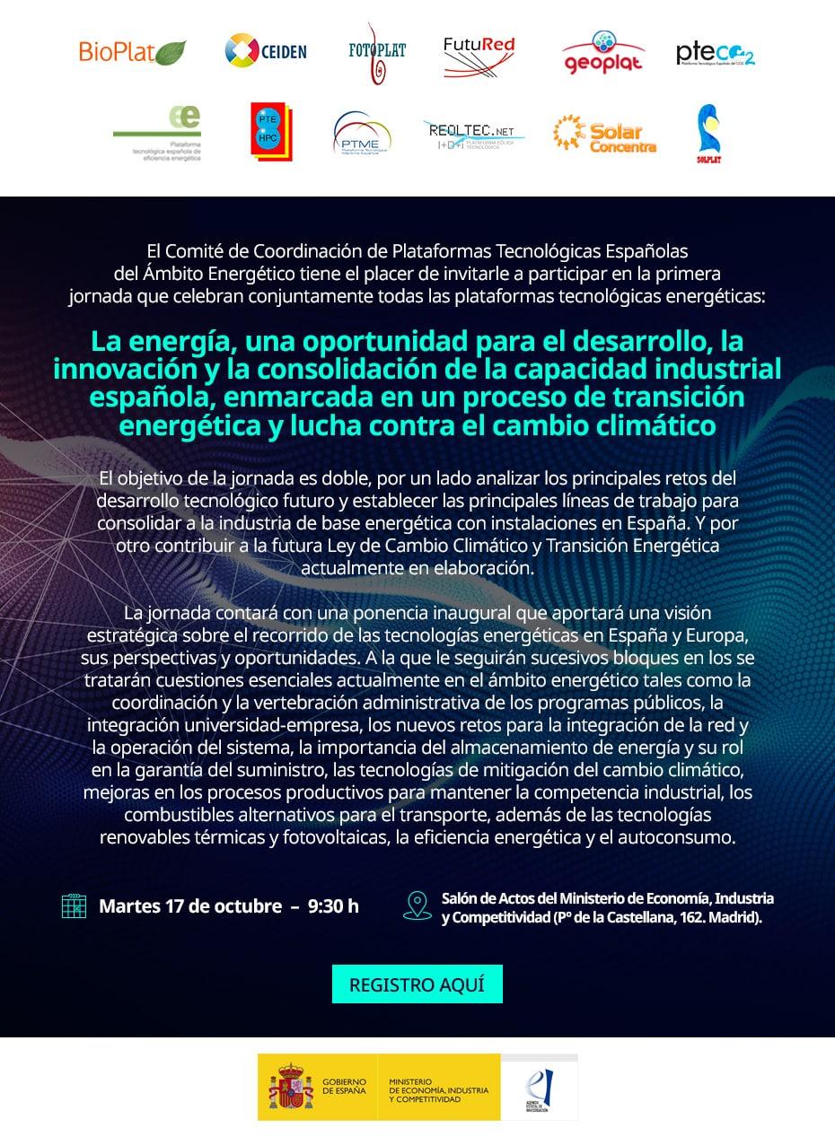 jornada de Plataformas Tecnológicas Españolas del Ámbito Energético